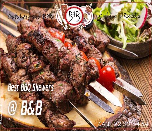 Azaiba, โอมาน: Meat Skewers