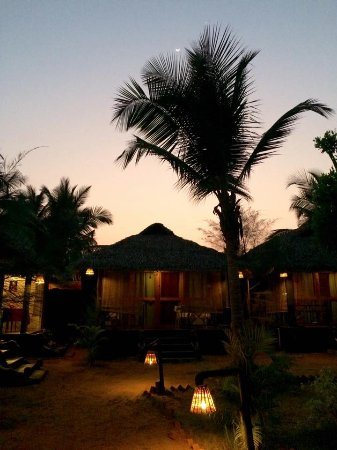 Patnem, Indie: Our hut at night