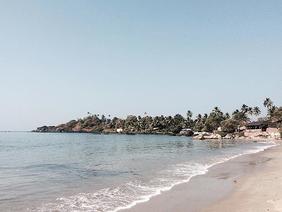 Patnem Beach to the right