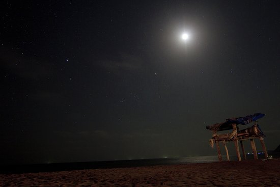Dwarka Eco Beach Resort: As i lay gazing at the star on a full moon night. yet the great sky was generous enough to showe