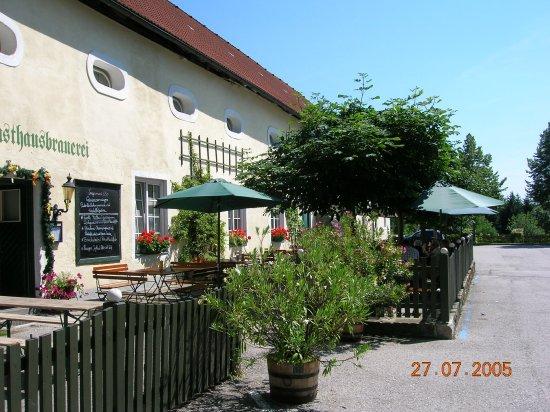 Kefermarkt, Østerrike: Gastgarten mit Kastanienbäumen