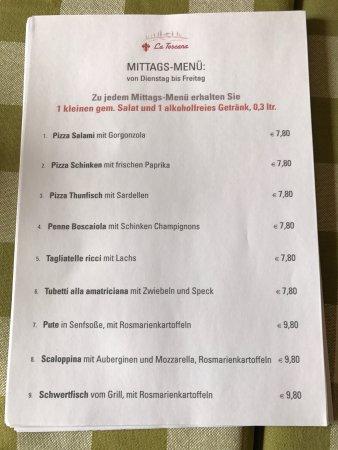 Winhoring, Германия: Mittags menù von dienstag bis Freitas