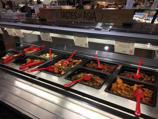 Wegmans market cafe oriental food bar picture of for Food bar wegmans