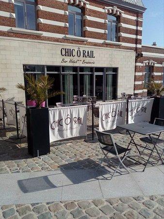 Chic O Rail: La terrasse