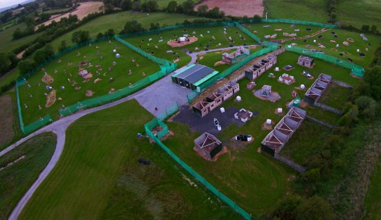Aerial Pic of Pallas Paintball, Tynagh, Loughrea, Galway, Ireland