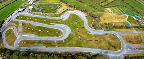 Aerial pic of Pallas Karting's 1500m advanced track, Tynagh, Loughrea, Galway, Ireland