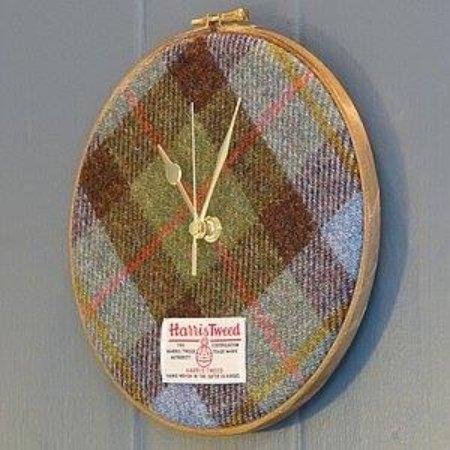 Newtonmore, UK: Harris Tweed Battery Operated Clock