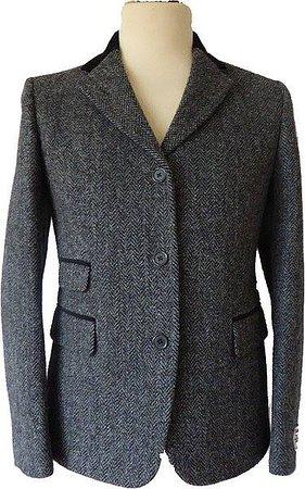 """Harris Tweed Shop: Harris Tweed Ladies """"Sarah"""" Jacket with Velvet trim"""