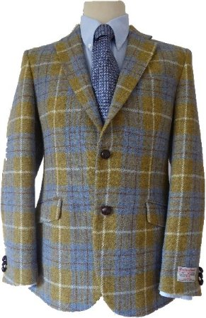 Harris Tweed Shop: Harris Tweed Limited Edition Gold Check Jacket with Paisley Lining