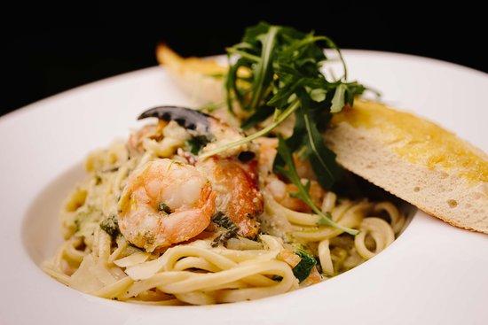 Rowan Tree Cafe Bar: Milltown Malbay Crab, Prawn  Clam Linguini