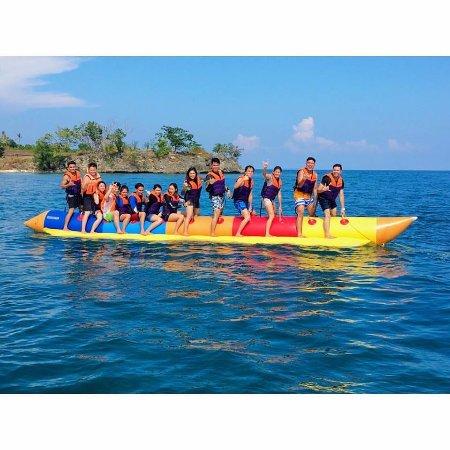 Banana Boat is a must Picture of Kabayan Beach Resort Laiya