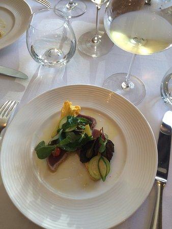 """Auberge la Feniere: seared """"sashimi"""" tuna"""