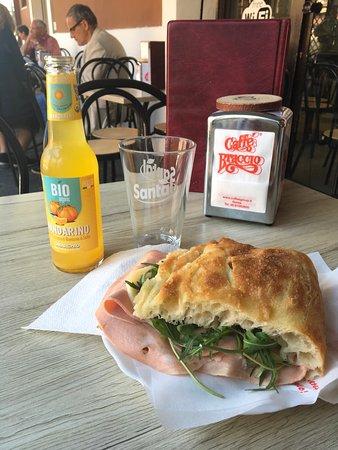 bar i tigli freshly prepared panino con mortadella with organic lemonade comes in at 7