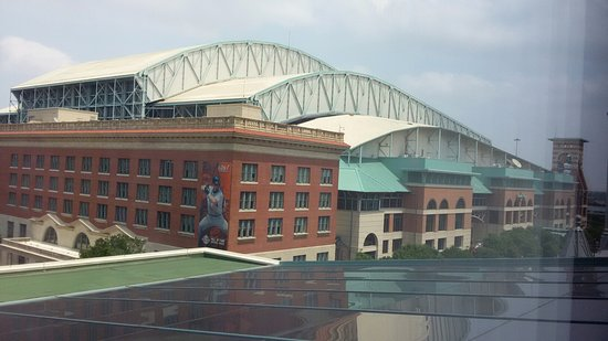 The Westin Houston Downtown: View from the 6th floor room - looking at Minute Maid Park