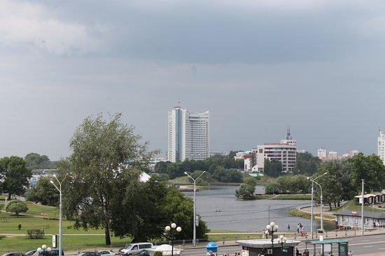 Vue du centre ville bild von hotel belarus minsk for Ville du 51