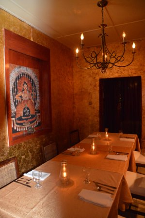 Holetown, Barbados: Sitar's private dinning room