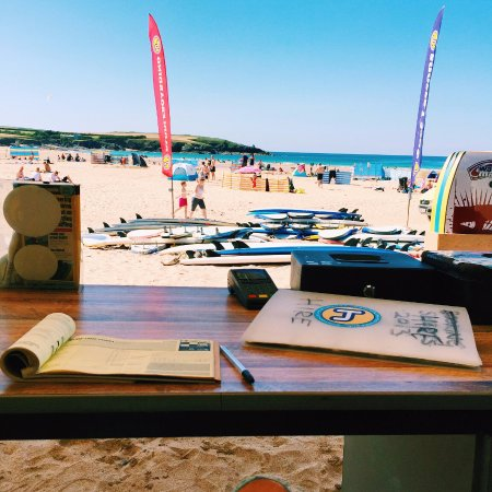 St Merryn, UK: The office at Harlyn Surf School!