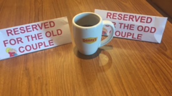 Headingley, Canada: Fun reserved sign for the regulars