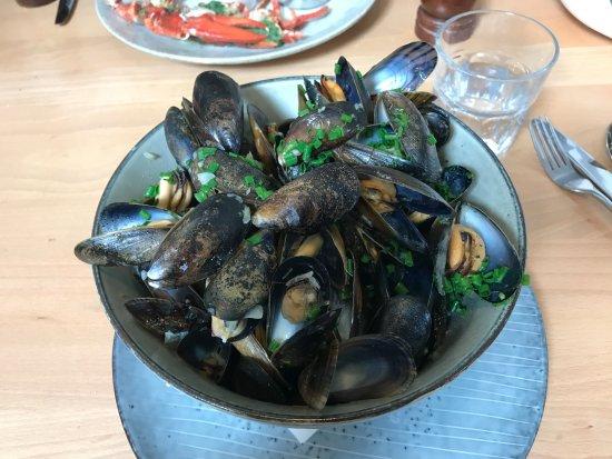 Clachan, UK: Blue mussels