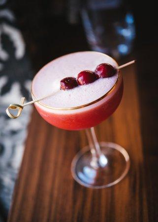 Sour Cherry Bourbon Cocktail Picture Of Damas Restaurant Montreal Tripadvisor