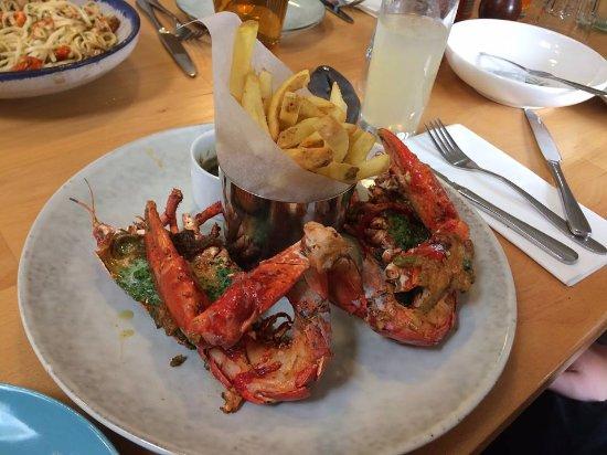 Clachan, UK: My son's lobster.