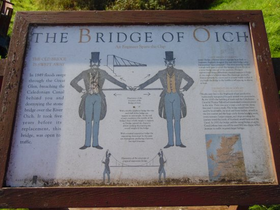 Aberchalder, UK: Explanatory plaque about the Bridge