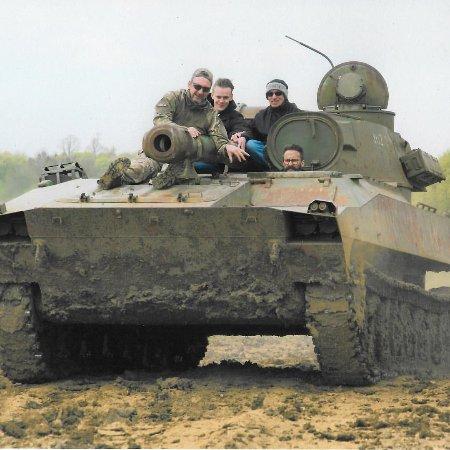 Helmdon, UK: In Soviet Russia tank drive you...