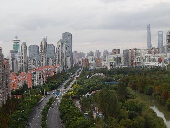 Dorsett Shanghai: vista desde nuestra habitación!