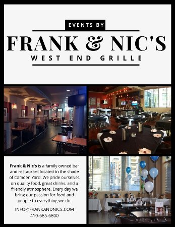Frank & Nic's West End Grille: Private Party!