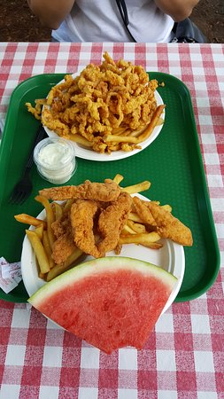 Westford, MA: Chicken Finger and Clam Strip meals