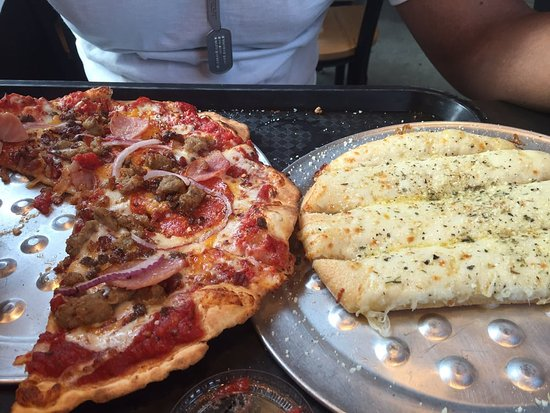 Owings Mills, MD: High five pizza and cheese sticks