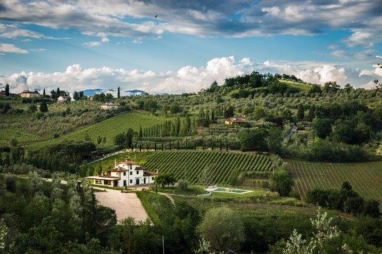 Poggio a Caiano, Itália: Foto panoramica Az. Agricola Podere Petraia -CARMIGNANO-