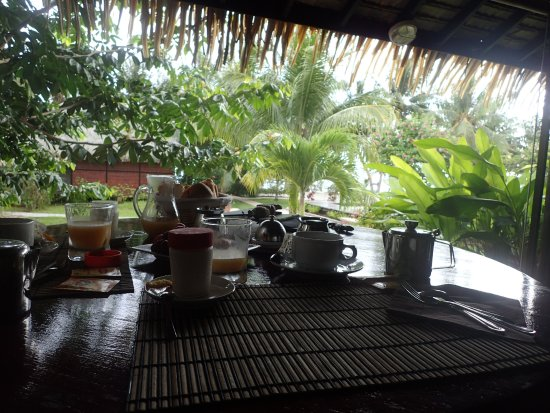 Patio, French Polynesia: view from breakfast table
