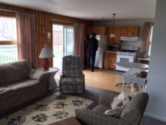 Rye, NH: View from living room looking into kitchen.
