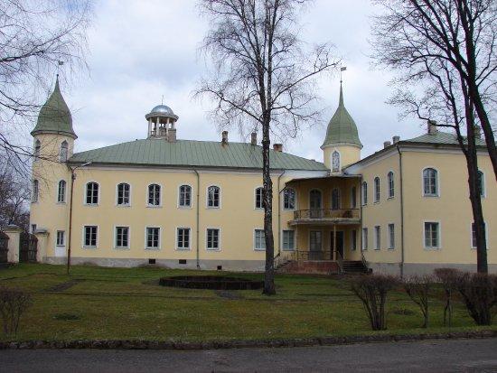 Jekabpils, Lettland: Вид на замок.