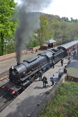 Froghall, UK: The American steam locomotive