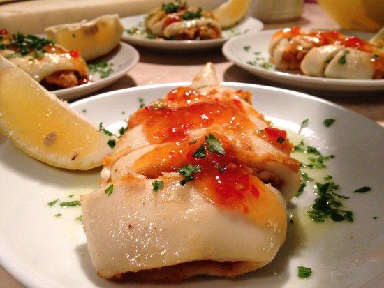 Bahce Balik Restaurant: Kalamar Dolması - Stuffed Calamari