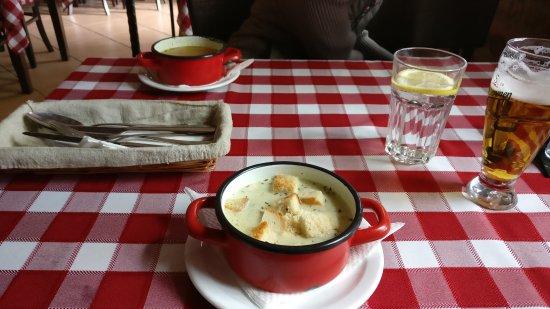 Nagykanizsa, Ungarn: table with 2 soups
