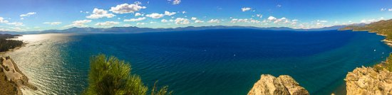Glenbrook, เนวาด้า: Panoramic View of Lake Tahoe From Cave Rock