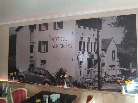 Hotel Lamerichs : Detalle en pared.