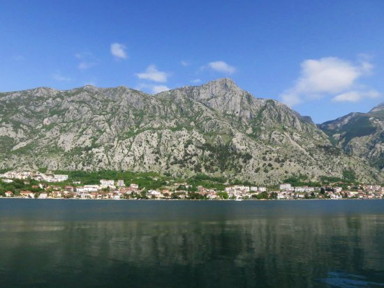 Muo, Montenegro: From the restaurant on the coast