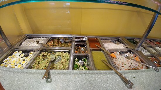 Monona, WI: Salad station where you can find guacamole, pico del gallo and a whole lot more.