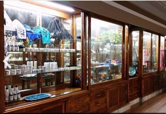 Muscatine, IA: These 100 year old display cabinets are original to the day Geo Volger 1st opened the store in 1