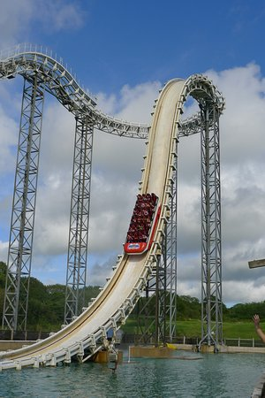 Oakwood Theme Park : One of the rare occasions this ride is running