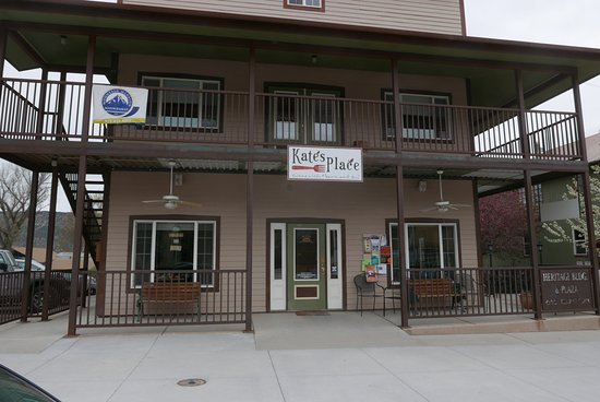 Ridgway, CO: exterior and a bit of the courtyard seating