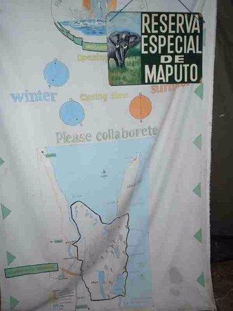 Maputo Elephant Reserve (Reserva Especial de Maputo): Reserve map