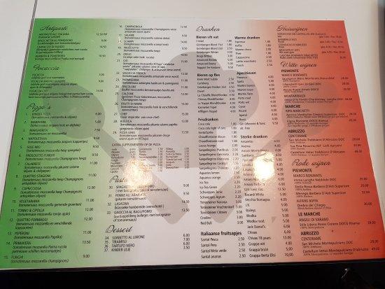 Houthalen, Bélgica: menukaart