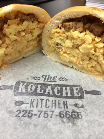 Sausage Egg and Cheese Ranchero - Picture of Kolache Kitchen, Baton ...