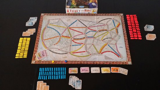 St. Catharines, Canada: Ticket to ride, collect train cards, cash them in to make routes and get points!