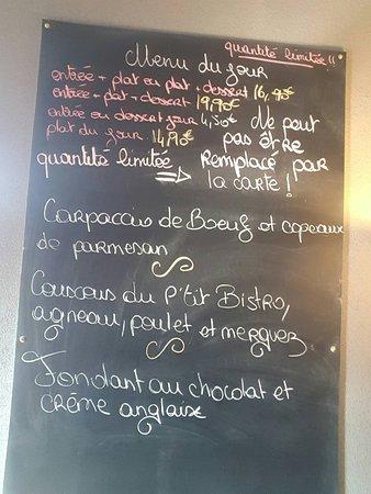 Chambly, France: Contrôle hygiène restaurant  Photos menu du jour